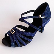 sandália de salto personalizável espumante brilho sapatos de dança de mulheres latinas personalizáveis
