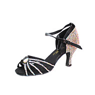 Атласные / горный хрусталь Современный / бальные танцы Обувь для женщин (больше цветов)