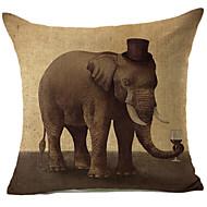 levande elefant mönster bomull / linne dekorativa örngott