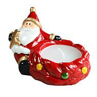 Christmas Santa Shape Candle Holder ,Ceramic