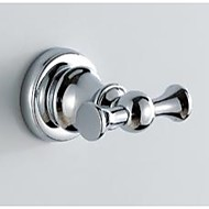 Bathroom Accessories Solid Brass Chrome Finished Double Robe Hooks 59003