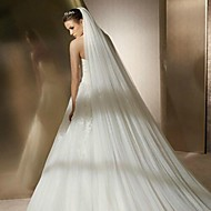 Two-tier Veil Tier Wedding Veil with Edge Style More Colors