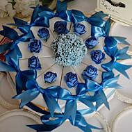 weißer Kuchen zugunsten Box mit Blue Rose & Bogen (10 Stück)