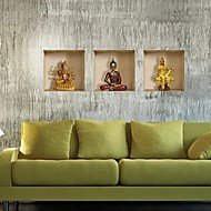 3d ο Βούδας τοίχο χαλκομανίες αυτοκόλλητα τοίχου