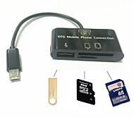3 in1 micro SD-kortinlukija adapteri Micro USB OTG kaapeli OTG puhelimeen