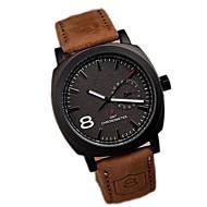 Men's Fashion Simple  Upscale Business Affairs Quartz Watch Leather Band Wrist Watch Cool Watch Unique Watch