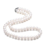 Women's Silver Necklace Wedding Pearl
