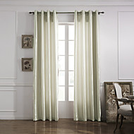 Modern One Panel Solid Ivory Living Room Polyester Panel Curtains Drapes