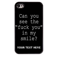 אישית מקרה טלפון - זיון מקרה עיצוב מכתב מתכת עבור 4 / 4S iPhone