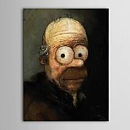 מצויר ביד מפורסם פנל אחד בד ציור שמן צבוע-Hang For קישוט הבית