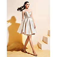 Homecoming TS Couture® Cocktail Party Dress - Champagne Ball Gown V-neck Knee-length Satin