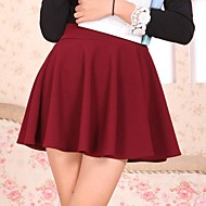 Women's Pure Color Mini Skirt