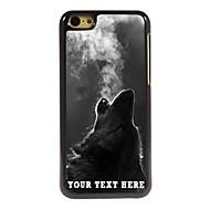 gepersonaliseerde telefoon geval - de wolf blaast rook ontwerp metalen behuizing voor de iPhone 5c