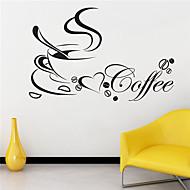 stadig liv wall stickers kaffekop mønster 40cm x 60cm jiubai ™ wallstickers