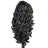 klauw clip synthetische 18 inch lang krullend zwart paardenstaart