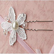 Women's Lace/Alloy Headpiece - Wedding Flowers