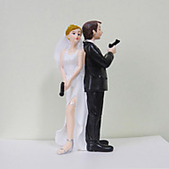 "Cake Toppers ""Secret Agents"" Bride & Groom  Cake Topper"