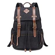 Unisex's New Academism Canvas School Bag Outdoor Bag Backpack