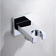 Solid Brass Chrome Finish Wall Mounted Hand Shower Holder With Water Distributor