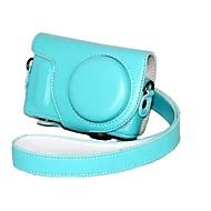 caixa protetora da moda pajiatu® pu câmara de couro com alça de ombro para samsung nx mini-lente 9 milímetros nxf1