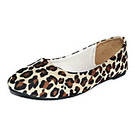 Women's Spring / Summer / Fall / Winter Comfort / Ballerina Suede Flat Heel Animal Print White