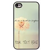 osobní telefon pouzdro - květinový design kovové pouzdro pro iPhone 4 / 4s