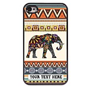 Personalized Phone Case - Elephant Design Metal Case for iPhone 4/4S