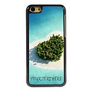 gepersonaliseerde telefoon case - hart zee ontwerp metalen behuizing voor de iPhone 5c