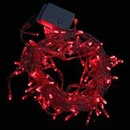10м 9.6W Рождество вспышка 100-LED Red Light полосы света лампы (ЕС штекер, AC 220V)
