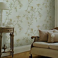 Wall Paper Wallcovering,  European Style High Foaming Rural Locations Non-woven Wall Paper
