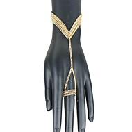 Női Európa divat kézi lánc gyűrű karkötő