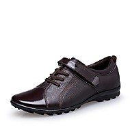 Men's Shoes Office & Career/Casual/Party & Evening Leather/Patent Leather Oxfords Black/Brown