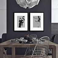 Lidé Tisky v rámu Wall Art,Polystyren Černá Včetně pasparty s rámem Wall Art