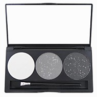 3 Eyeshadow Palette Dry / Matte / Shimmer / Mineral Eyeshadow palette Powder Normal Daily Makeup