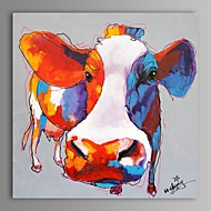 peinture à l'huile moderne main de la vache abstraite toile avec cadre étiré peint