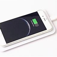 qi draadloze oplader pad + draadloze ontvanger adapter + TPU soft duidelijk geval voor iphone 6 4.7 inch