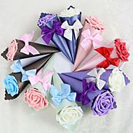 12 peças / detentor favor set - papel cartão pirâmide / potes de doces de cetim e garrafas