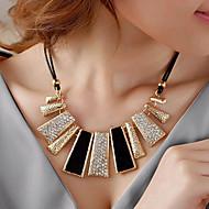 Women's Statement Necklaces Geometric Irregular Rhinestone Imitation Diamond Alloy Fashion European Black Jewelry For Party Daily Casual