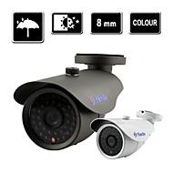 yanse® 1000tvl 8 milímetros de vigilância CCTV 36 ir bala visão noturna câmera ao ar livre f278cf8mm