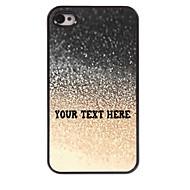 gepersonaliseerde telefoon geval - druppel water ontwerp metalen behuizing voor de iPhone 4 / 4s