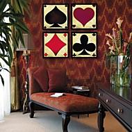 Abstrato Quadros Emoldurados / Conjunto Emoldurado Wall Art,PVC Preto Sem Cartolina de Passepartout com frame Wall Art