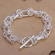 Kedja/Personlig Armband Dam Silver