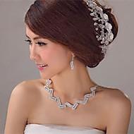 krystal bryllup manuelle tiaras (flere farver)