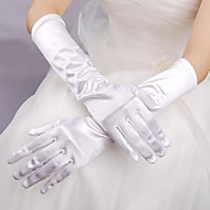 Elbow Length Fingertips Glove Elastic Satin Bridal Gloves Spring Summer Fall Winter
