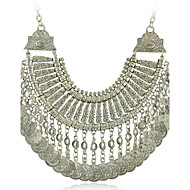 Tribal statement necklace Ethnic Jewelry Gypsy Coin Necklaces