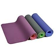 Tapis de Yoga (Vert / Bleu / Violet , Down) 6 mm Séchage rapide