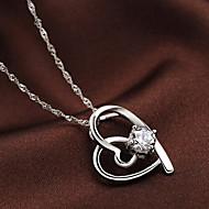 45センチメートル純銀製のネックレスファッションの女性のヨーロッパスタイル925純銀製の象眼細工の宝石用原石のペンダント