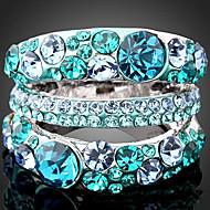 Prstenje sa stavom Neformalan ( Legura/Kubični Zirconia/Platinum Plated/Umjetno drago kamenje