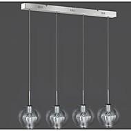 4 lampe glas vedhæng lys moderne moderne
