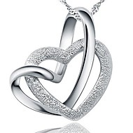 Ladies' Silver Heart-Shaped Pendant